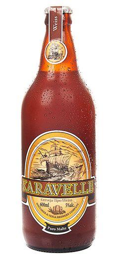 Cerveja Karavelle Weiss, estilo German Weizen, produzida por Cervejaria Karavelle, Brasil. 5% ABV de álcool.