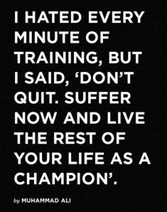 Danni Allen told us that this Muhammad Ali quote is her favorite motivational quote #MotivationalWednesday