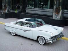 1956 Ford, White Crown Victoria Skyliner. Maintenance/restoration of old/vintage vehicles: the material for new cogs/casters/gears/pads could be cast polyamide which I (Cast polyamide) can produce. My contact: tatjana.alic@windowslive.com