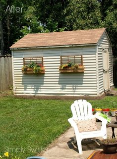 a new upcycle idea for old windows, flowers, gardening, repurposing upcycling, windows Shed Makeover, Patio Makeover, Christmas Window Boxes, Shed Windows, Metal Shed, Faux Window, Window Planter Boxes, Potting Sheds, Diy Planters