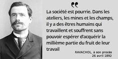 Contestation brutale du pouvoir de l'#argent. Mais de quoi est accusé #Ravachol ? #histoire de #France en #citations