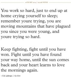 Until your heart learns to love...