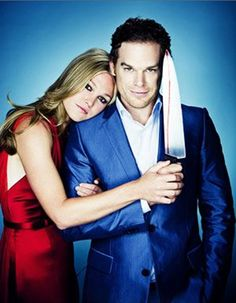 Michael C Hall & Julia Stiles or AKA- Dexter and Luma. Wish they would bring her back for last season