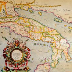 Ptolemy's description of Ancient Italy mapped by Gerhard Mercator 1594