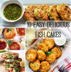 10 Easy Delicious Fish Cakes - Fill My Recipe Book Seafood Meals, Meat Meals, Meat Recipes, Seafood Recipes, Appetizer Recipes, Cooking Recipes, Tuna Fish Cakes, Fish Cakes Recipe, Shrimp Cakes