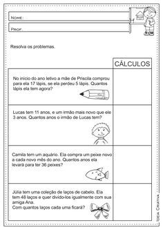 Atividades Educativas Matematica Contas Armadas Operacoes Basicas