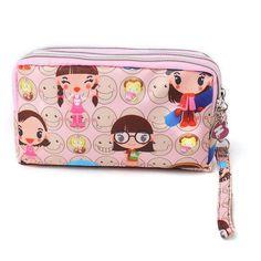 Women Lady Triple Zip Wallet Purse Long Handbag Clutch Bag Phone Case Card Key