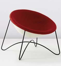Anonymous; Enameled Metal and Fiberglass Lounge Chair, 1950s.