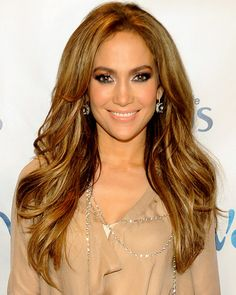 jennifer lopez - all over blond highlights