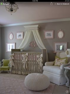 Nursery grey and pink