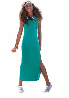 Produkttyp , Jerseykleid, |Qualitätshinweise , Hautfreundlich Schadstoffgeprüft, |Materialzusammensetzung , Obermaterial: 100% Viskose, |Material , Jersey, |Farbe , Petrol, |Passform , sehr schmale Form, |Schnittform/Länge , lang, |Ausschnitt , Kante eingefasst, |Ärmelstil , ohne, |Armabschluss , Kante eingefasst, |Saumabschluss , Kante abgesteppt, |Pflegehinweise , Maschinenwäsche, |Auslieferu...