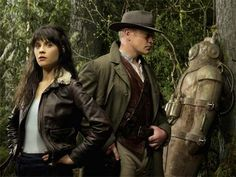 """Tin Man - Sci Fi's modern steampunk reimagined """"Wizard of OZ"""" Kathleen Robertson, Zooey Deschanel, Cast Images, Men Tv, Princess And The Pea, Tin Man, Old Shows, Original Movie, Guy Pictures"""
