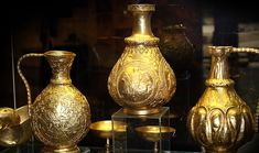 The Golden Treasure of Nagyszentmiklos, the largest known hoard of early medieval vessels, will be on display in Sofia between April 6 and July 9 History Museum, Art History, Les Balkans, Golden Treasure, And July, Byzantine, Pagan, Antique Gold, Medieval