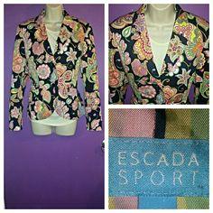 Escada Sports Jacket Beautiful botanical collection.  Paisley Multicolor print.  NWOT. Escada Jackets & Coats