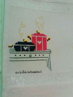 This Pin was discovered by Fir Wool Embroidery, Applique Embroidery Designs, Cross Stitch Embroidery, Cross Stitch Patterns, Stitch Crochet, Diy Crochet, Craft Stick Crafts, Diy And Crafts, Cross Stitch Kitchen