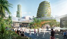Malaysia's Forest City Masterplan will feature the world's largest green roof system