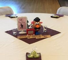 Disney Wedding: Toy Story Centerpiece Favor: Chocolate covered oreos made to look like the Aliens!