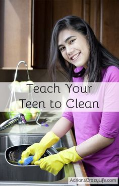 Easy technique to get your teens to clean. Need to work on teaching my kids cleaning skills.
