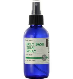 You can't get over how exquisitely divine this Tulsi Splash smells! Used extensively in Ayurvedic medicine, Tulsi is considered a sacred plant and is found growing in many Hindu homes. Helps reduce eczema, psoriasis and various other skin disorders. Warm, soothing and slightly spicy, this splash is fabulous to spray on the face or body in times of s...