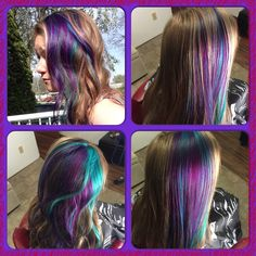 Pretty bright colors Bright Colors, Hair Styles, Pretty, Beauty, Beleza, Bright Colours, Vibrant Colors, Hair Looks, Cosmetology