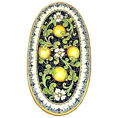 CERAMICHE DARTE PARRINI  Italian Ceramic Art Serving Tray Plate Pottery Hand Painted Decorative Made in ITALY Tuscan <3 Details on this handmade product can be viewed by clicking the image