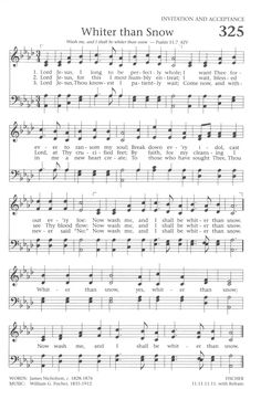 Baptist Hymnal 1991 Whiter than Snow - Lord Jesus, I long to be perfectly… Gospel Song Lyrics, Christian Song Lyrics, Gospel Music, Christian Music, Music Lyrics, Hymns Of Praise, Praise Songs, Worship Songs, Church Songs