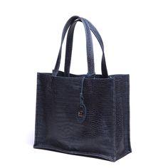 #blue #bag #jeans #croco