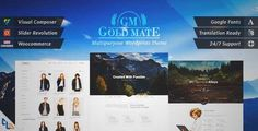Download and review of GoldMate - Multipurpose WordPress Theme, one of the best Themeforest Creatives themes
