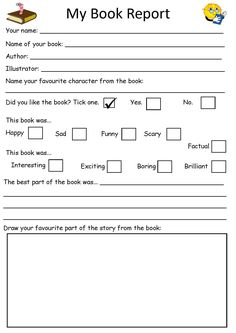 Book review template for kids pinteres second grade book report for summer reading fandeluxe Images