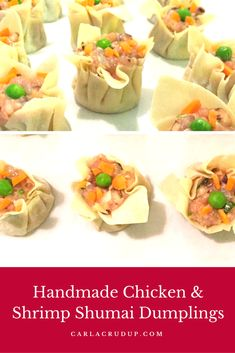 Handmade Chicken & Shrimp Shumai Dumplings