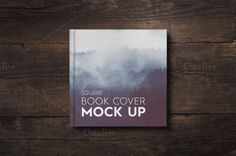 Square Book Cover Mockup by attraax on @creativemarket Stickers Design, Branding, Packaging, Vector Pattern, Background Patterns, Book Design, Mockup, Typography, Creative