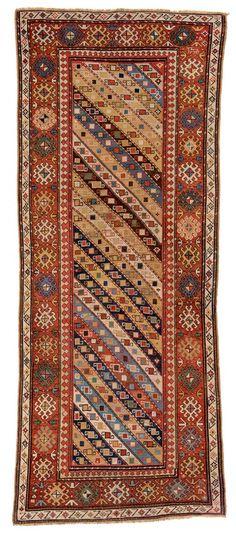 Gendje Caucasus ca. 1880 8ft. 10in. x 3ft. 6in.