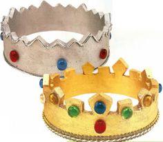 coronas de unicel de los Reyes Magos