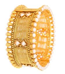 Buy Traditional & Exquisite Gold Designer Kada (Openable). bangles-and-bracelet online