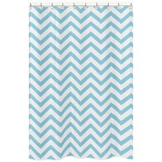 Sweet Jojo Designs Turquoise/ White Chevron Zigzag Shower Curtain | Overstock.com Shopping - Great Deals on Sweet Jojo Designs Shower Curtains