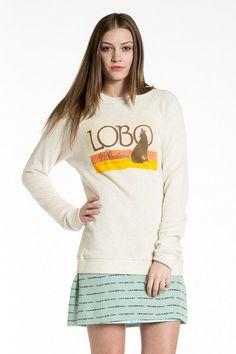 Pendleton Portland Collection Lobo Sweatshirt in White Sand