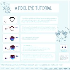 Pixel Eye Tutorial! - 3 -)~ by A-t-e-l-i-e-r.deviantart.com on @deviantART