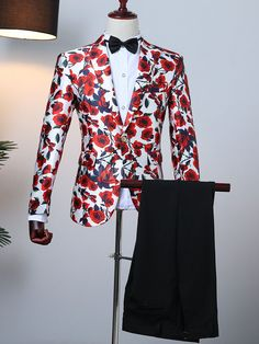 Vintage Costume Aristocrat Red Suits In 3 Pcs Slim Fit Tuxedo, Tuxedo For Men, African Clothing For Men, African Men Fashion, Prom Blazers For Men, Best Suits For Men, Wedding Dresses Men Indian, Prom Outfits, Prom Dresses
