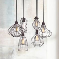 bunny room  Portersville Rusty Urban Multi Light Pendant - #4N577 | Lamps Plus