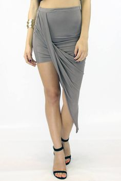 Wrap Me Skirt - Taupe : Current Fashion Trends & Styles