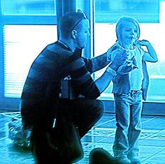 A man never stands so tall, as when he stoops to help a child.  I LOVE SEEING A GOOD DAD IN ACTION