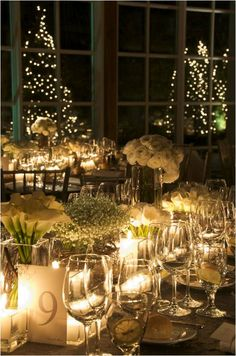 Lights, lights everywhere is my vision for a Christmas wedding.