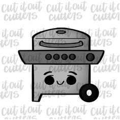 Gas Grill Cookie Cutter – Cut It Out Cutters Summer Cookies, Hand Designs, Outdoor Travel, Cookie Cutters, Grilling, Prints, Crickets, Travel, Summer Cakes