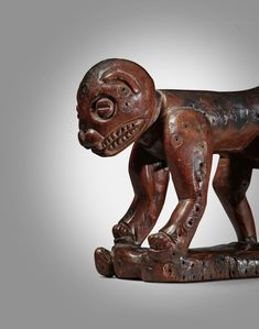 Yaka Zoomorphic Neckrest, Democratic Republic of the Congo | Sculpture from the Collection of Martin and Faith-Dorian Wright2021 | Sotheby's Printing Labels, Museum Of Modern Art, Republic Of The Congo, Lion Sculpture, African, Faith, Statue, Prints, Collection