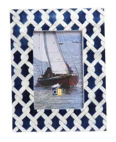 Latitude 38 Nautical Rope Capiz Picture Frame