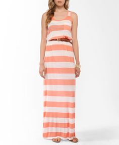 Striped Racerback Maxi Dress | FOREVER21 - 2000039412