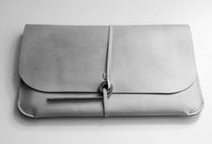 Grey leather laptop case/sleeve. Nice pouch.