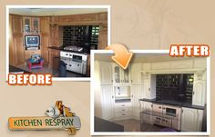 Without the need to replace all the countertops and cabinets in your kitchen, you can achieve the effect of having a brand new room for less money. Opting for kitchen respray will enable you to save up to 80 percent of the kitchen replacement cost.