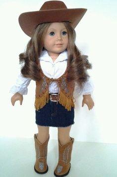 Cowgirl Outfit for American Girl Dolls Lanie Nikki Sage McKenna | eBay. Love this vest!