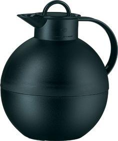 alfi® Kugel 0.94L Glass Vacuum Insulated Carafe - Plastic Black | Thermos®